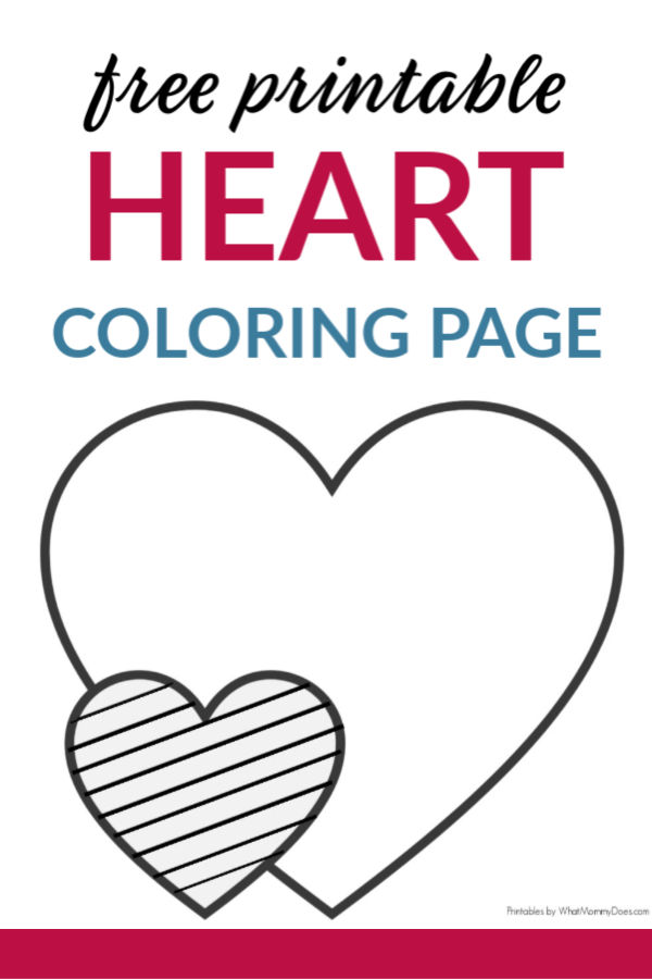 Easy Heart Coloring Pages For Kids Stripe Patterns What Mommy Does