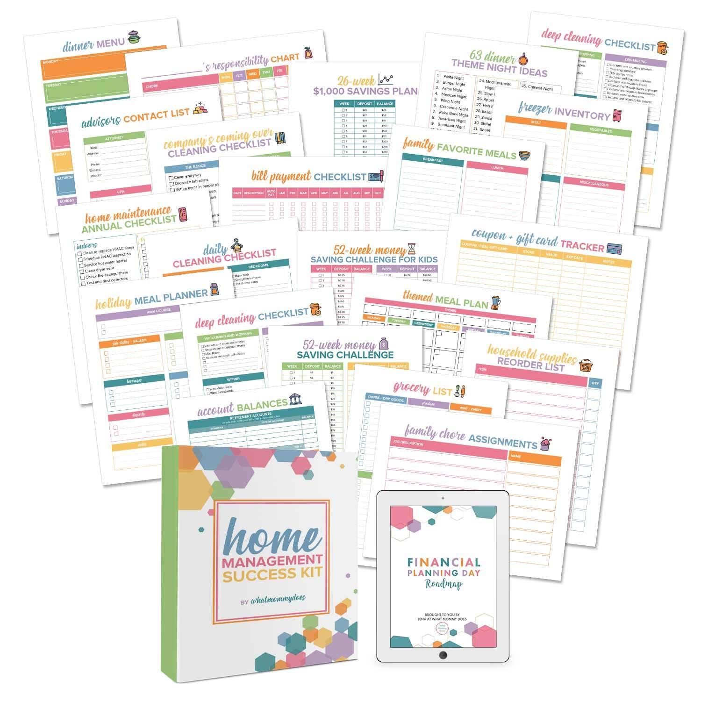 The Best Homemaking Worksheet Bundle For New Moms