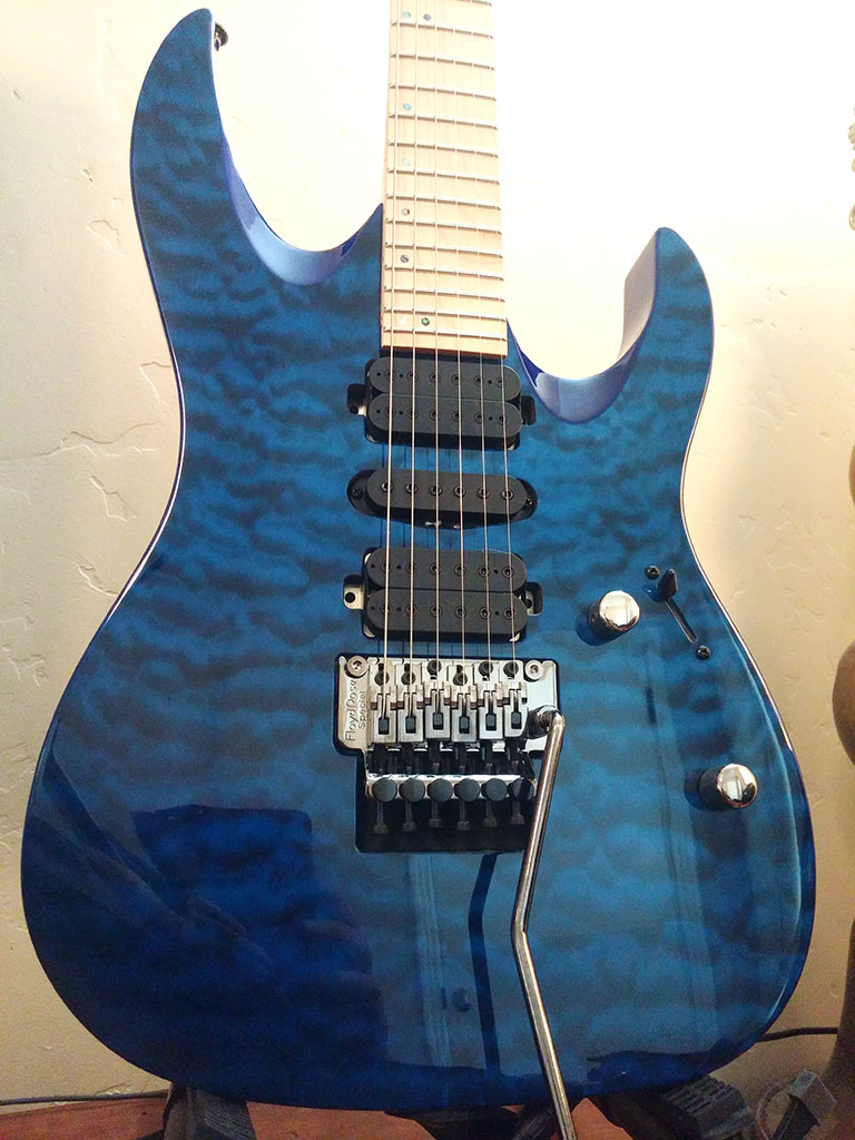 Mitchell HD400 Transparent Blue Body