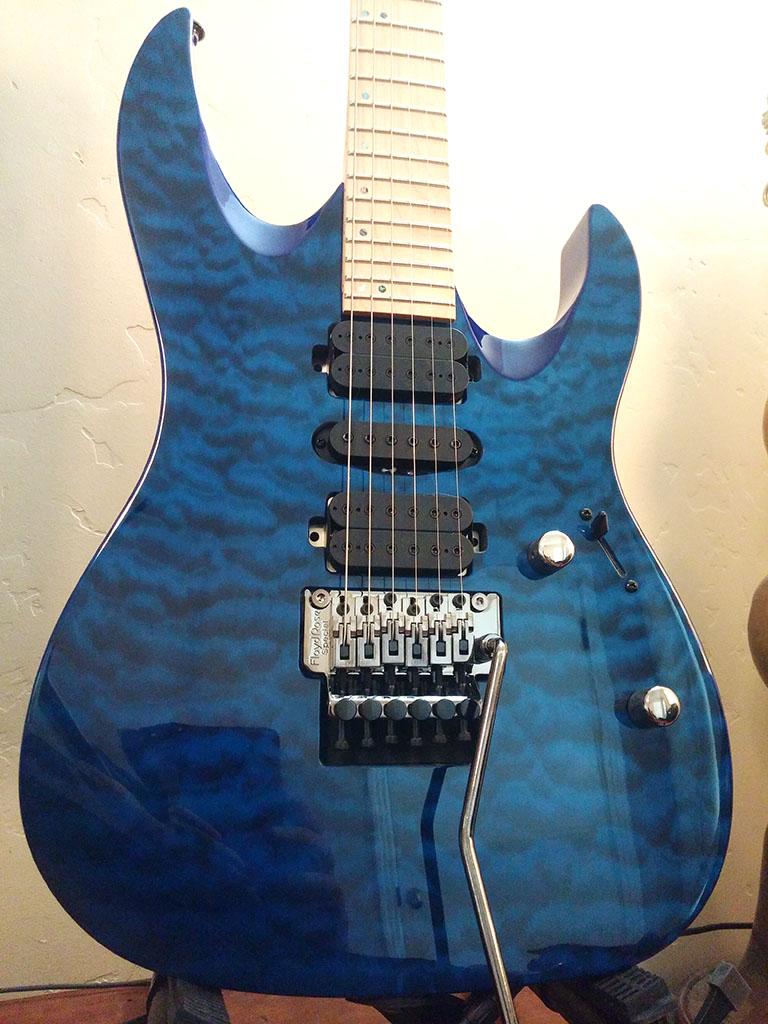 Mitchell HD400 Transparent Blue Body