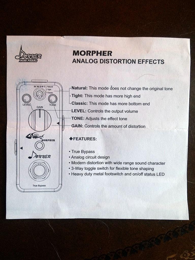 Donner Morpher Distortion Pedal