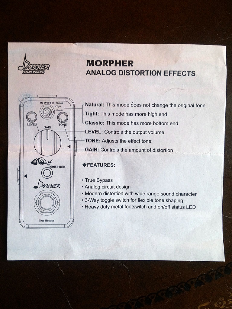 Donner Morpher Distortion Pedal