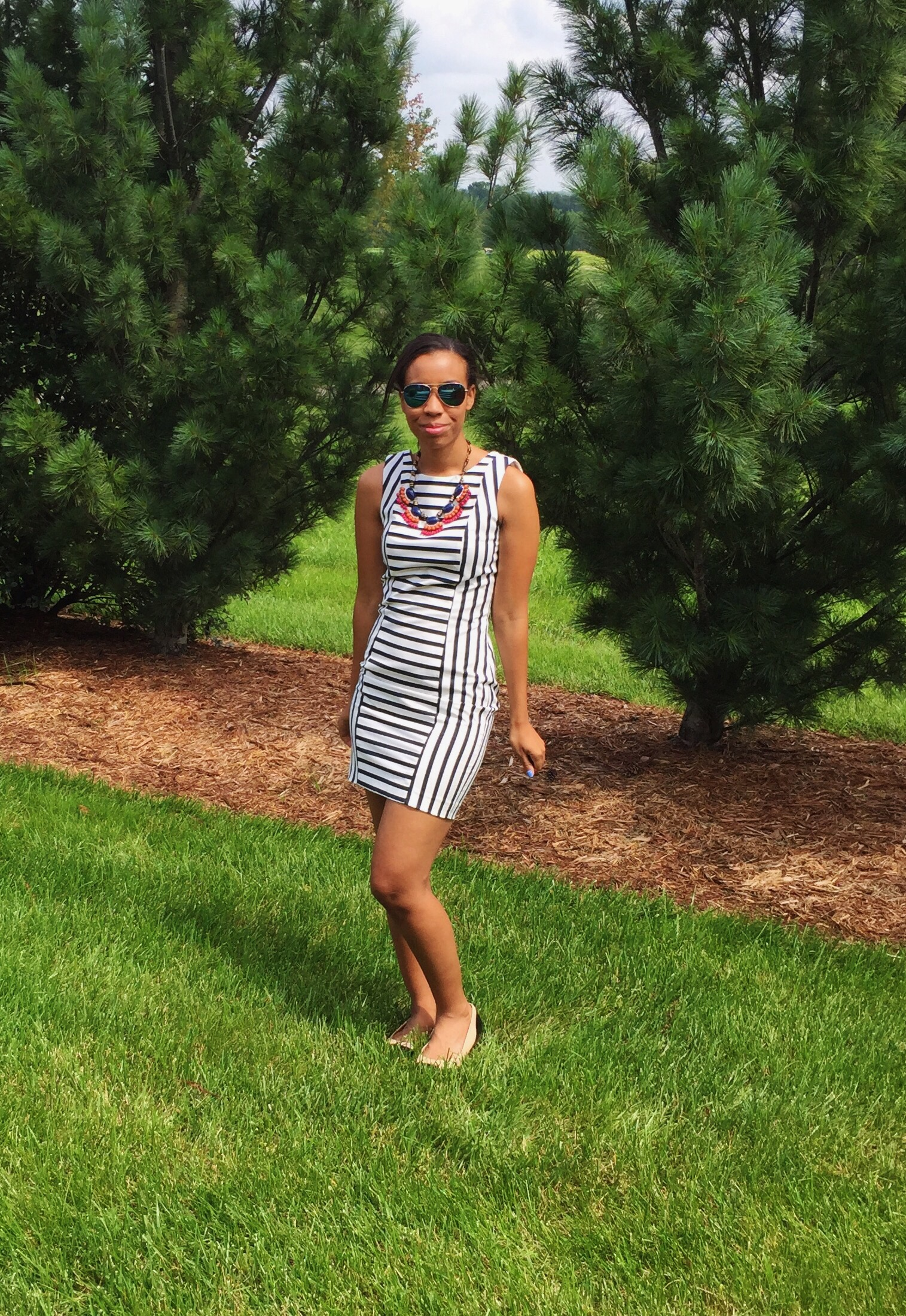 What Nicole Wore: Conference Stripes