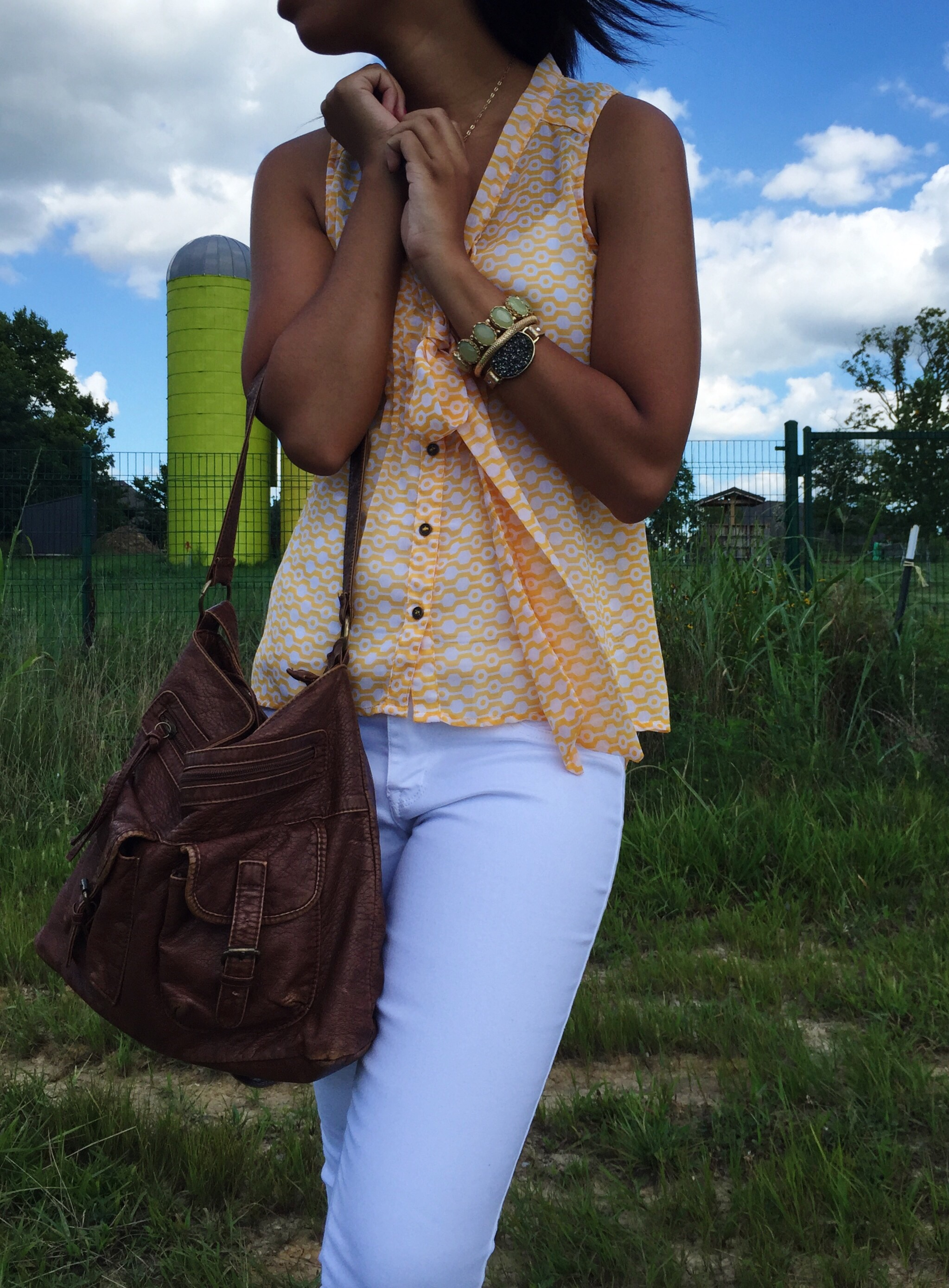 What Nicole Wore: Yellow & White