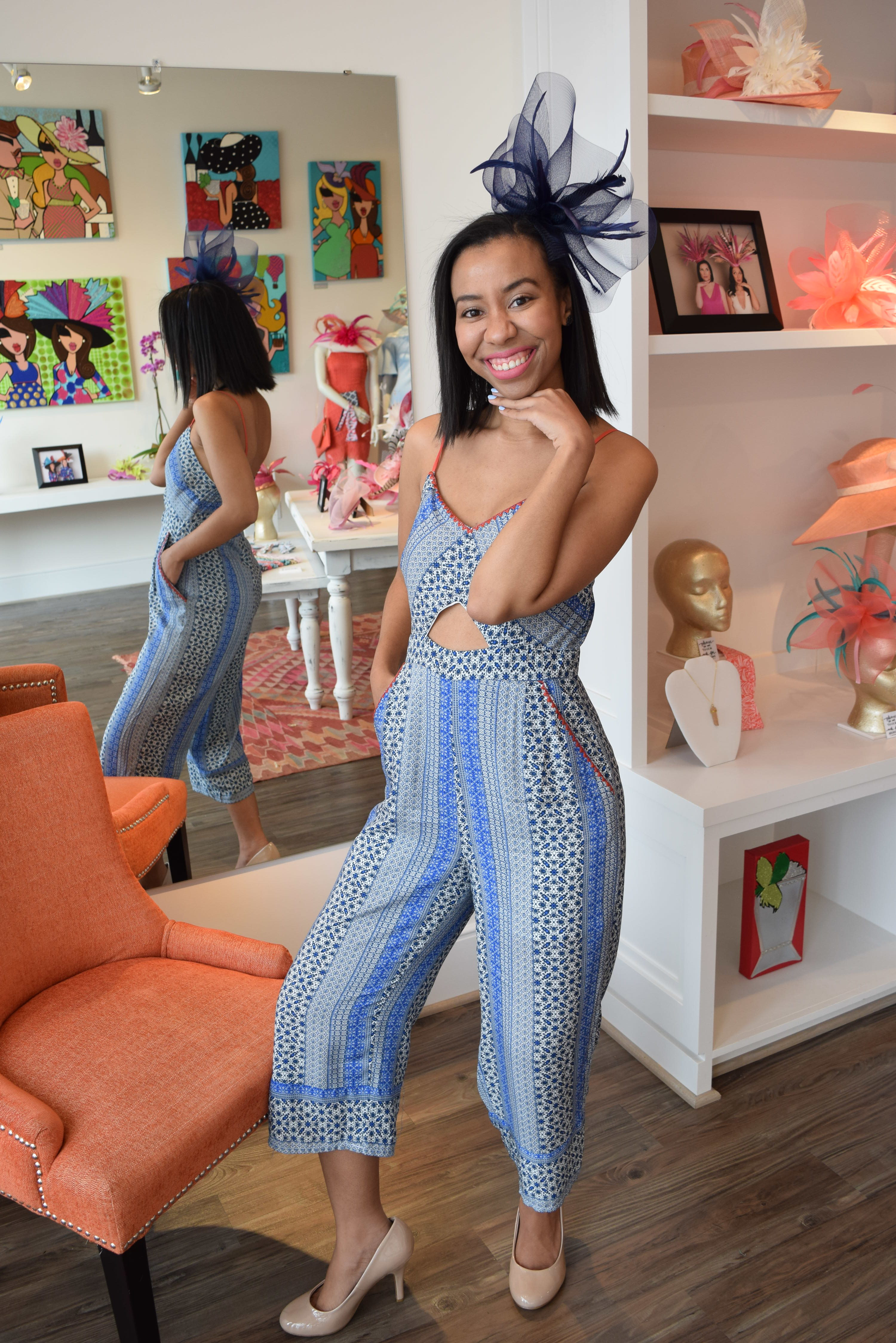 ae1107e78a Blue Jumpsuit for Kentucky Derby