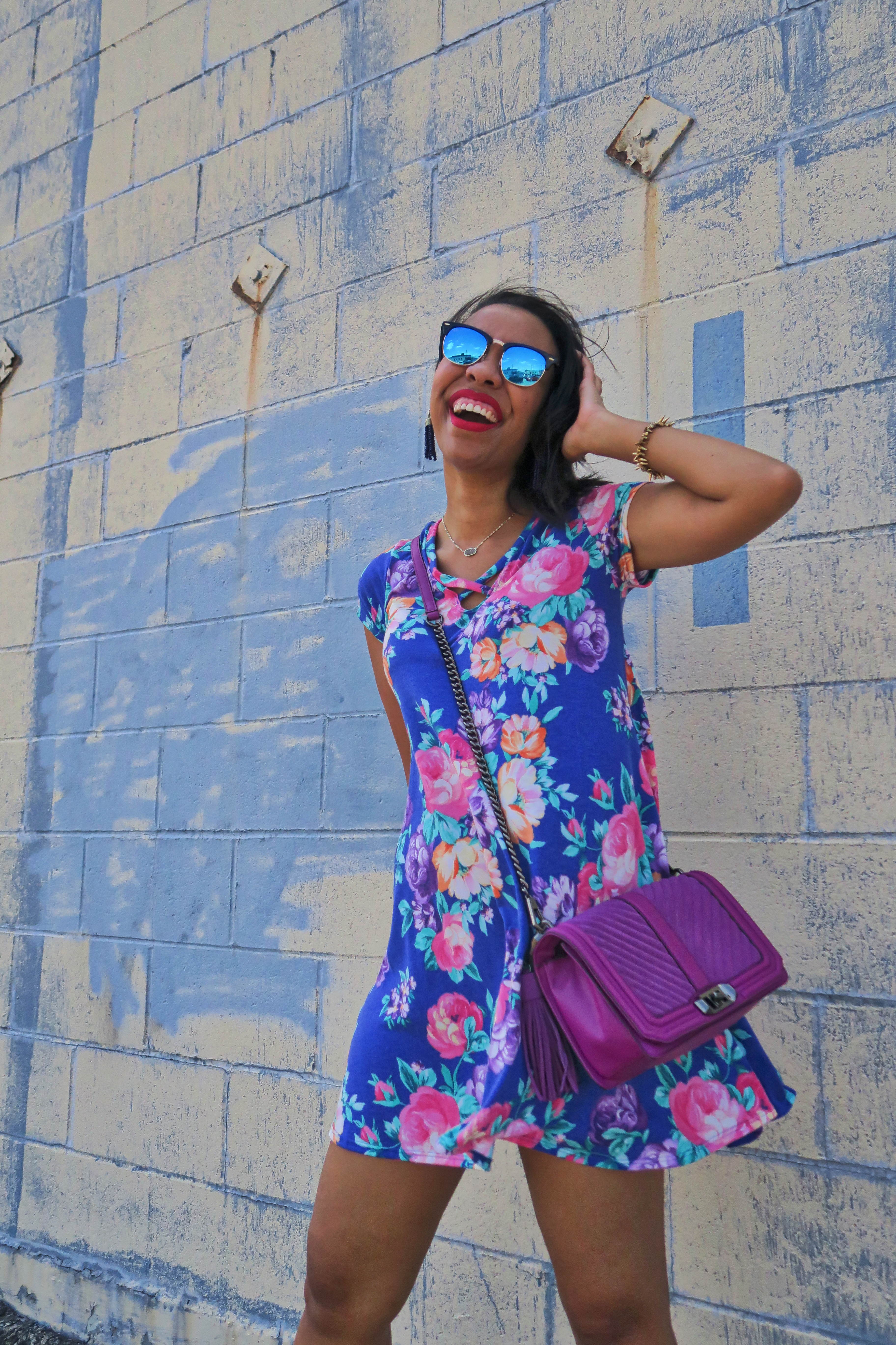 Blogger Style: Floral Criss Cross Dress