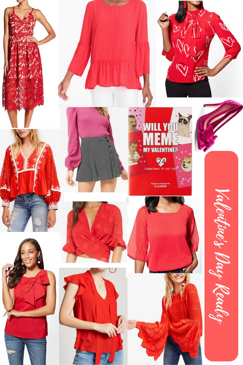 How to shop your closet for Valentine's Day, the best pieces you'll be able to wear again, and the funniest Valentine's cards to send loved ones from southern lifestyle blogger, What Nicole Wore! // what to wear for valentine's day, valentine's day outfit ideas, galentine's outfits, best red pieces for valentine's day