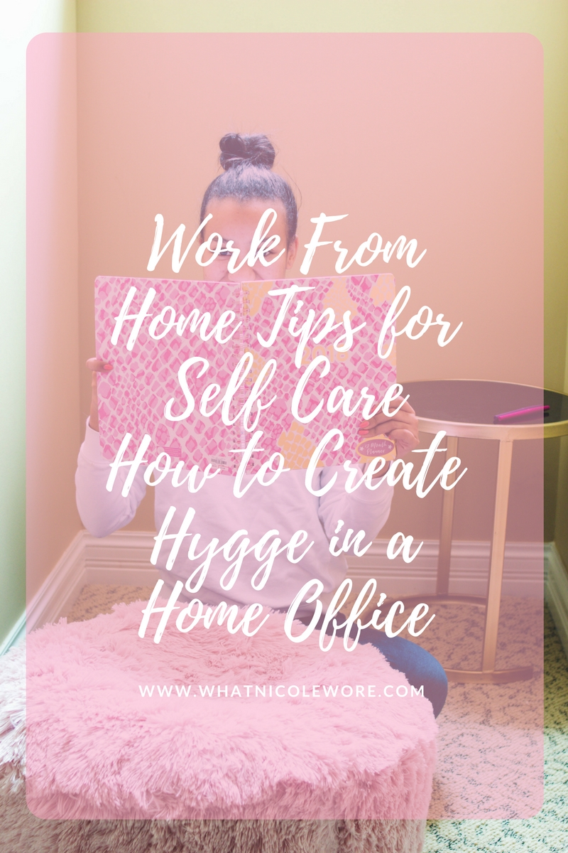 Millennial lifestyle blogger, What Nicole Wore, shares 3 ways to practice self care and embrace hygge while working from home with Gordmans. [sponsored] // tips for working from home, hygge home decor, affordable furniture for first home, productivity and self care tips