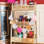 How to Decorate a Bar Cart for Galentine's Day
