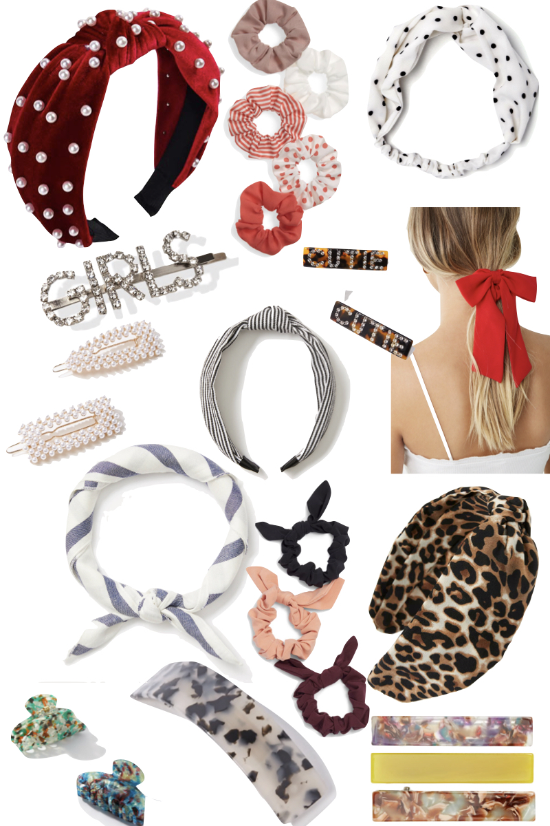 Popular style blogger, What Nicole Wore, shares how to embrace the hair accessory trend with deals on scrunchies, headbands, and more. // best hair accessory deals, hair accessories, bow scrunchies, affordable style picks, affordably style tips