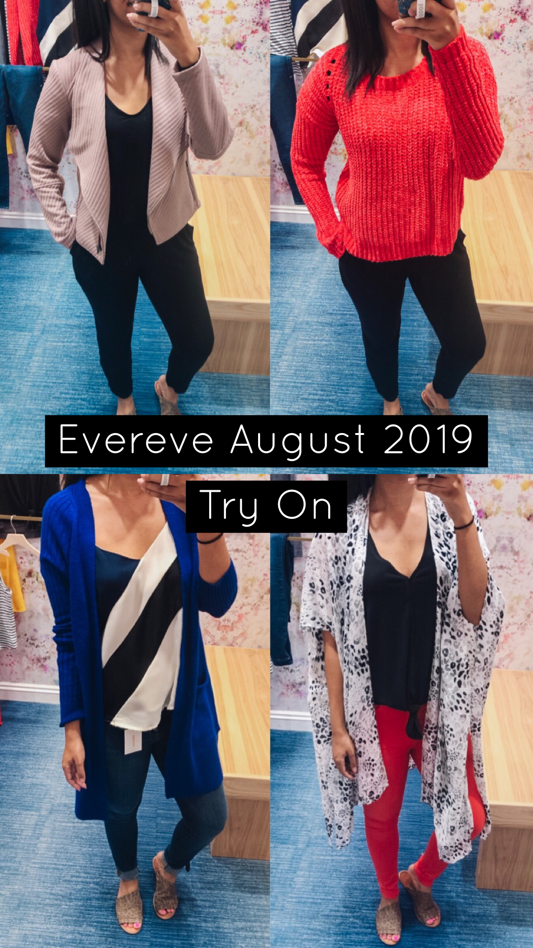 Popular US style blogger, What Nicole Wore, shares an Evereve August try on with outfit ideas to wear as we transition into fall. // evereve try on haul, evereve outfit fall, evereve 2019, black jumpsuit outfit ideas, fall outfit casual, evereve ambassador