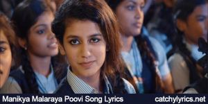 Manikya Malaraya Poovi Song Lyrics (Oru Adaar Love) Vineeth Sreenivasan image