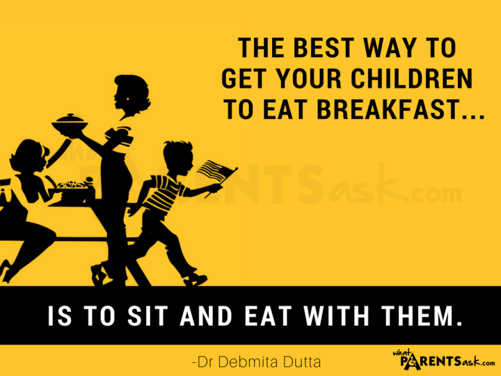 eat breakfast with your child