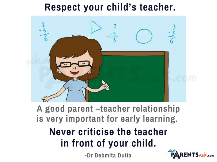 respect your child's teacher