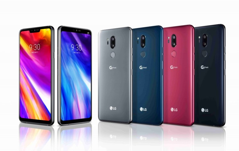 LG G7 ThinQ All colors Render
