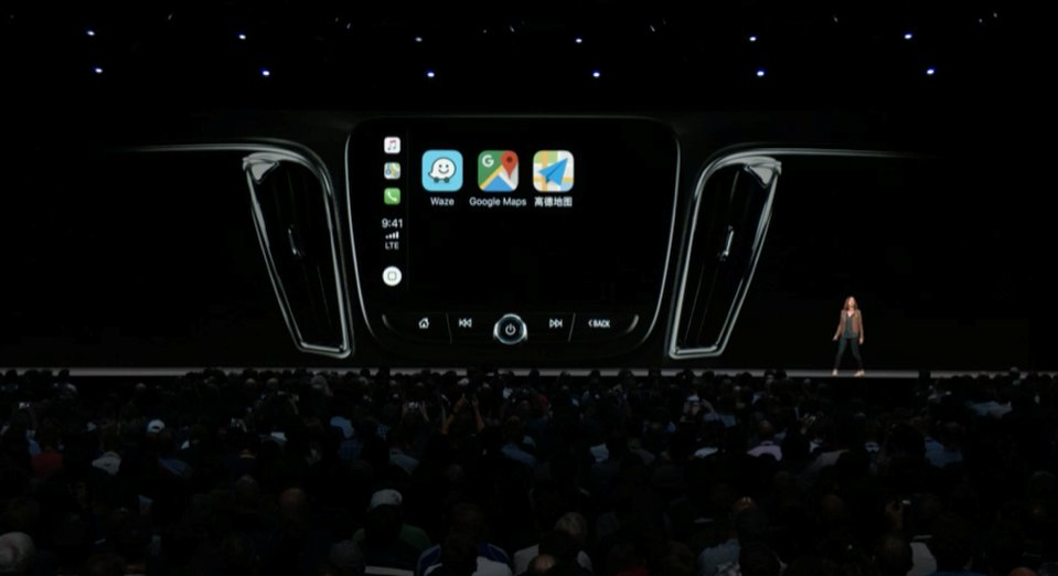 apple car play iOS 12 WWDC 2018