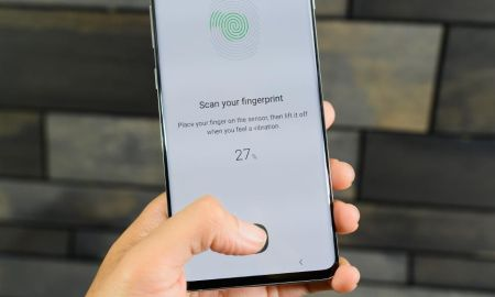 Ultrasonic Fingerprint Sensor Galaxy fold