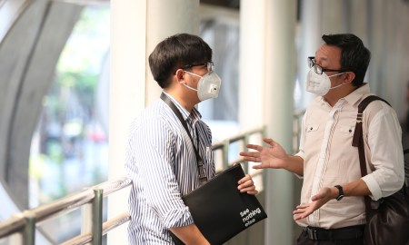 wearing pm 2.5 N95 mask