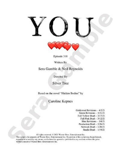 you season 3 episode 10 script