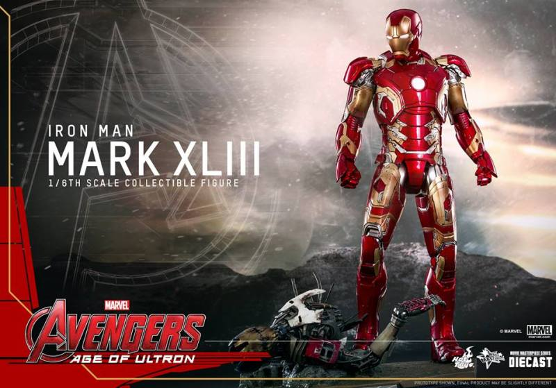 Iron Man Mark XLIII Hot Toys Avengers Age of Ultron (8)