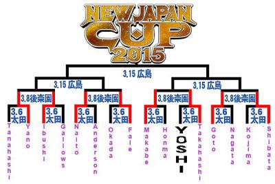 NJPW bracket NJCup 2015 2