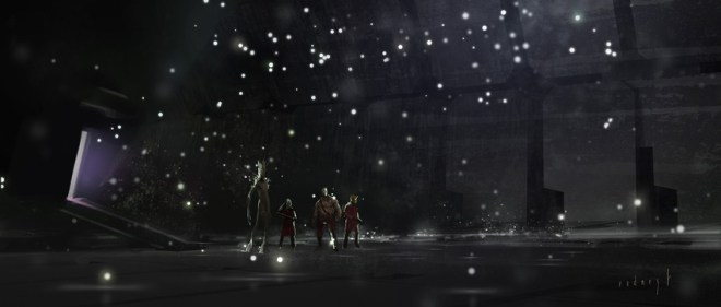 GUARDIANS OF THE GALAXY. Concept art by Rodney Fuentebella. Property of Marvel Studios.