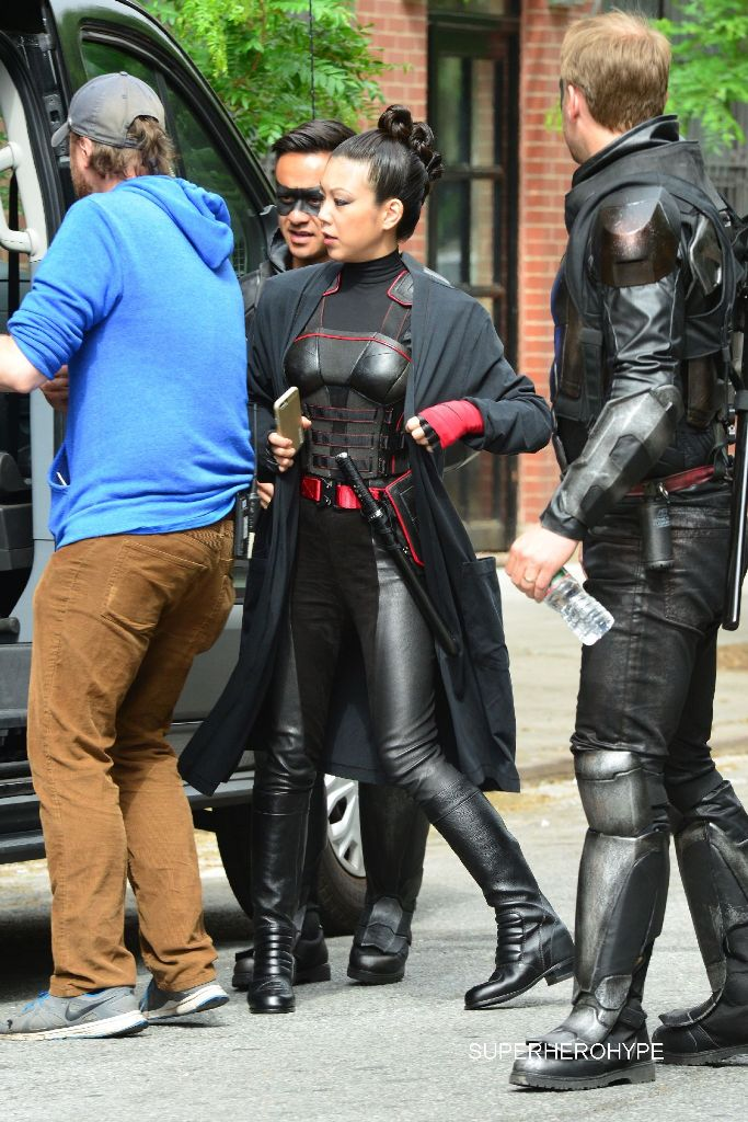 Stars on the film set of 'Teenage Mutant Ninja Turtles 2' in New York City Featuring: Jane Wu Where: Manhattan, New York, United States When: 27 May 2015 Credit: TNYF/WENN.com
