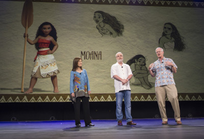 L to R: Producer Osnat Shurer, and Directors Ron Clements, and John Musker