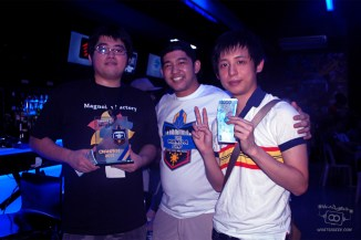 USFIV Winner Tonpy, with Imperium's Raphael Gancayco and placer Humanbomb on the right.
