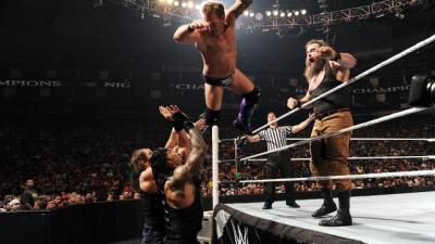 The Wyatt Family vs Roman Reigns, Dean Ambrose and Chris Jericho