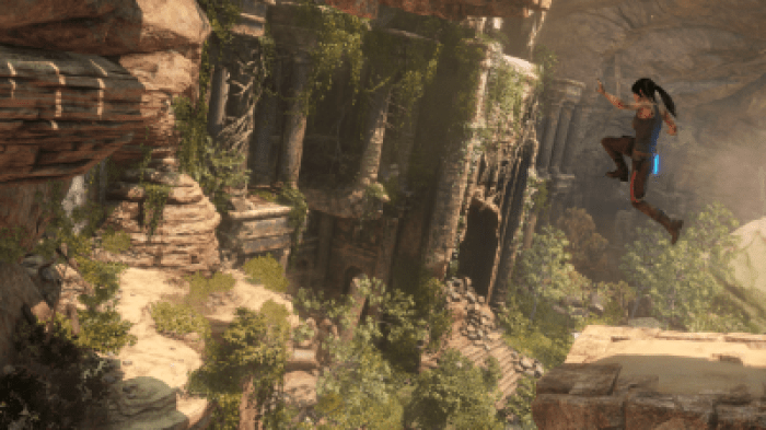Rise of the Tomb Raider jump