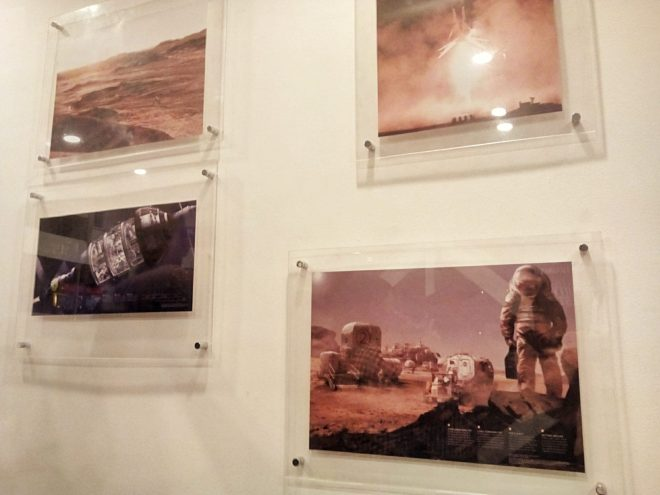 "Images of Mars featured inside the ""MARS"" booth at Bonifacio Global City."