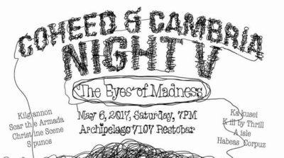 Coheed & Cambria Night V, c/o TONO Events (Geek Events May 2017 Philippines)