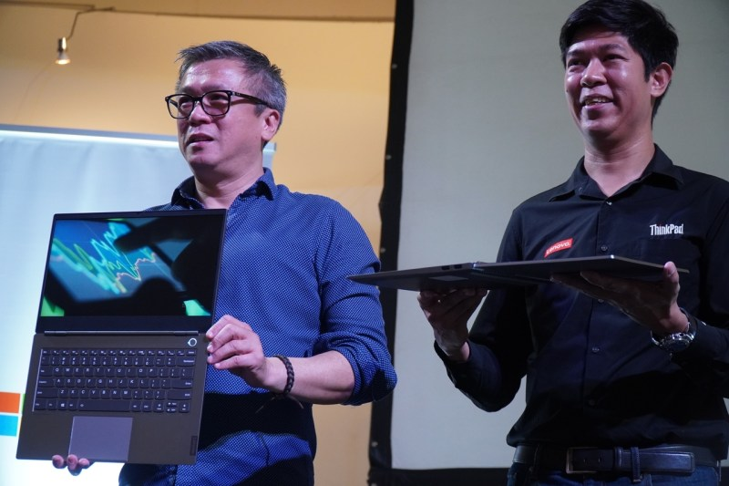 Lenovo ThinkBook with Lenovo officials