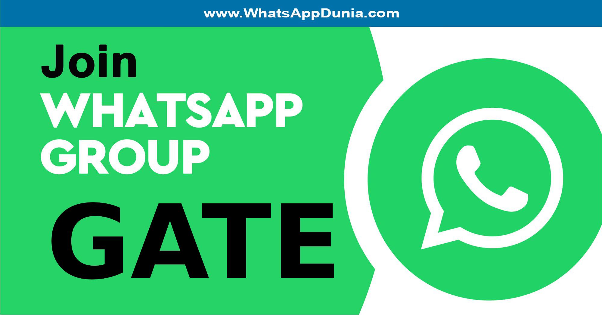 GATE WhatsApp Group Links