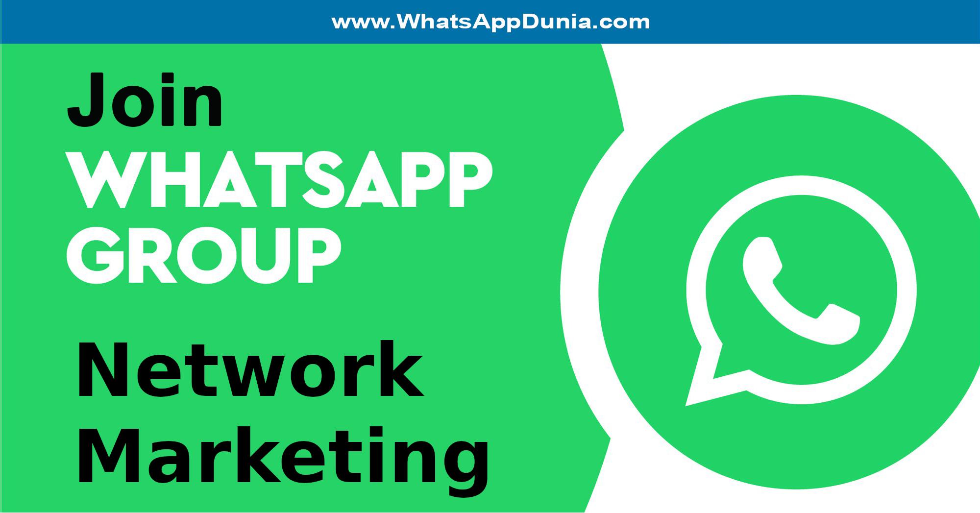 Network Marketing WhatsApp Group Links