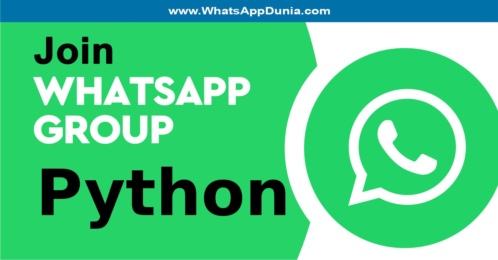 Python WhatsApp Group Links