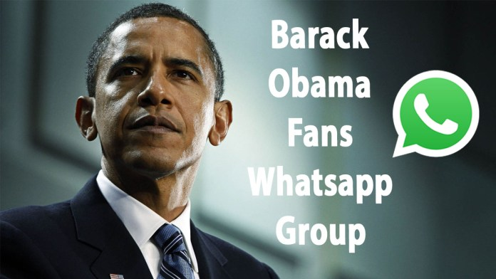Barack Obama Fans Whatsapp Group Link