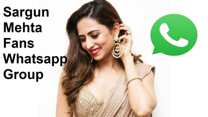 Sargun Mehta Fans Whatsapp Group Link