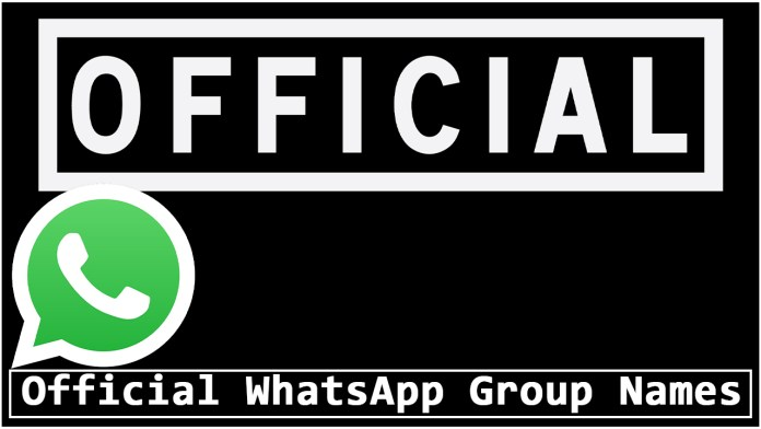 Official WhatsApp Group Names