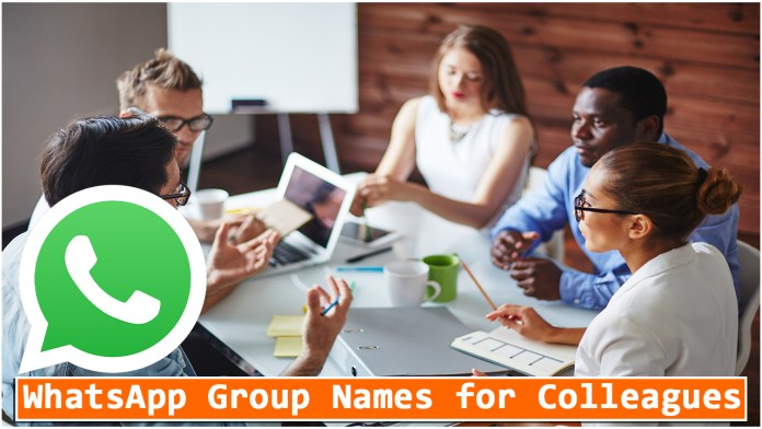 WhatsApp Group Names for Colleagues