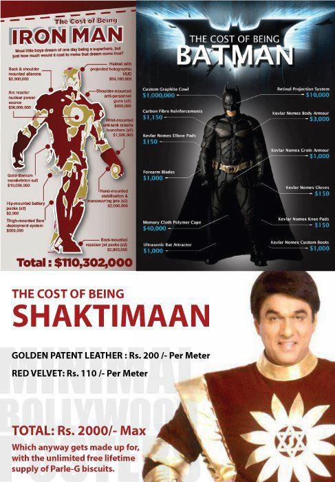Iron Man vs Batman vs Shaktiman Jokes