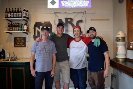 Jerry, Matt, Simon and Mark in the future tasting room.. just some of the good peeps at Nelson