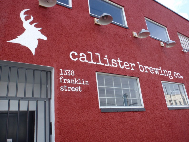 Nice paint job on wall at Callister, opening soon