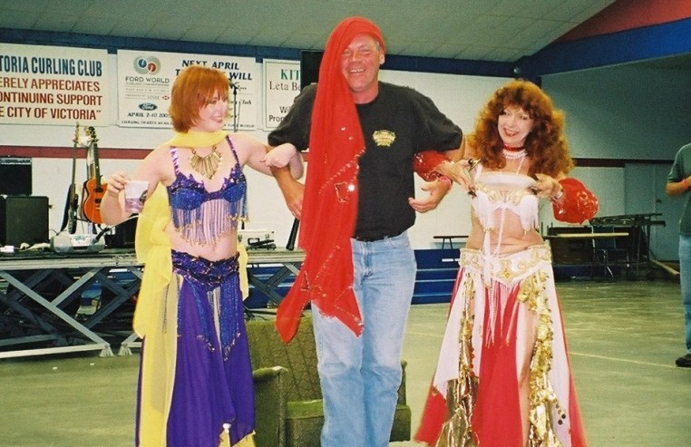 Gerry with the belly dancers
