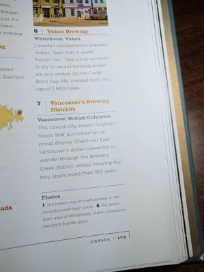 Page from National Geographic Atlas Of Beer. Shout out to #YeastVan