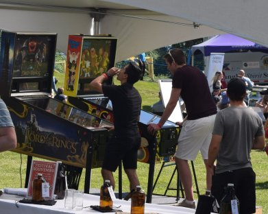 Pinball--at a beer fest!