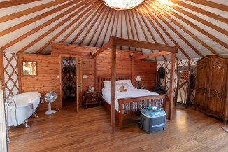 Luxury in Yurt at Merridale Cidery