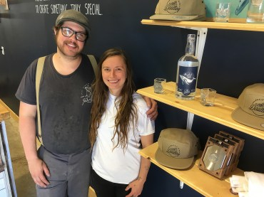 Pacific Rim Distillery Owner Luke and partner