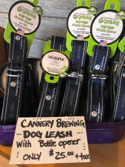 Cannery Brewing bottle opener dog leash